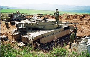 IDF tank near Shreife IDF military post in lebanon.jpg