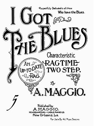 "English: ""I Got The Blues"" (sheet mu..."