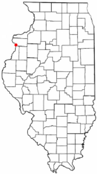 Keithsburg, Illinois - Location of Keithsburg, Illinois
