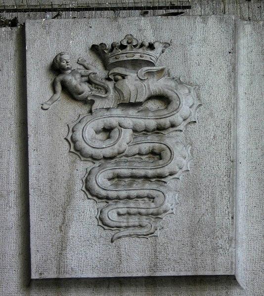 Alfa Romeo, yılan, çocuk, heykel