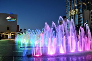 Fountains at Curtis Hixon Waterfront Park in downtown