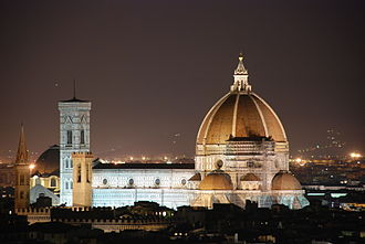 Culture of Italy - Florence Cathedral, Arnolfo di Cambio, campanile by Giotto dome engineered by Filippo Brunelleschi.