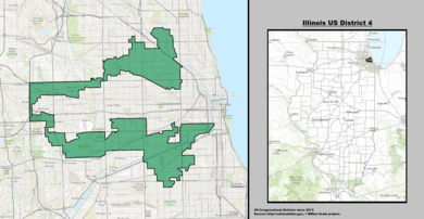 Illinois Congressional Districts Wikipedia - Map of illinois us house of representatives districts
