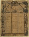 Illustrated family record (Fraktur) found in Revolutionary War Pension and Bounty-Land-Warrant Application File... - NARA - 300074.tif