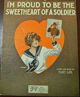 Im Proud to be the Sweetheart of a Soldier song