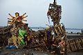 Immersed Durga Idol Remains - Baja Kadamtala Ghat - Kolkata 2015-10-22 6608.JPG