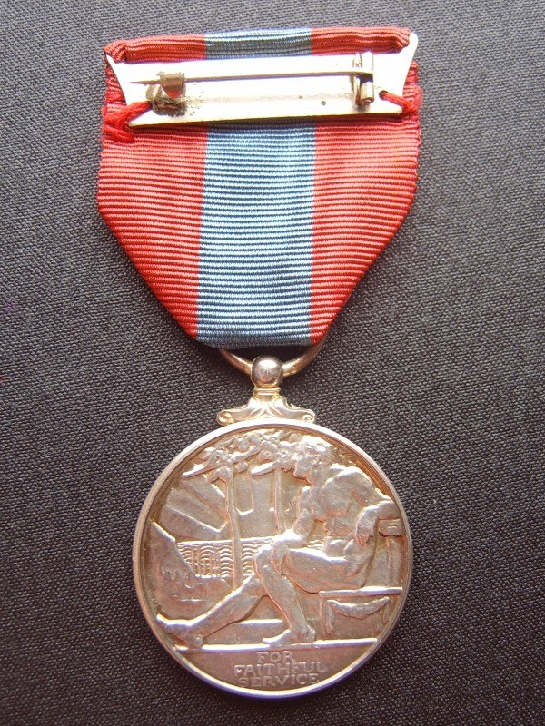 Imperial Service Medal reverse