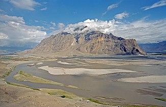 Flussbett des Indus bei Skardu