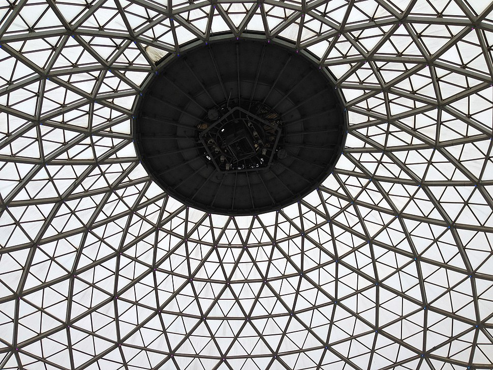 Inside Mitchell park dome