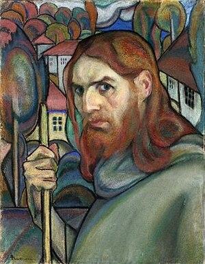 Ion Theodorescu-Sion - Self-portrait (pastel, 1925)