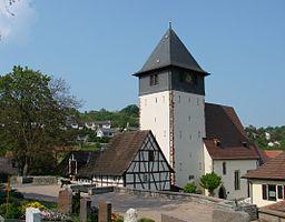Wiernsheim, Lutheran church in the community village of Iptingen