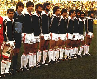 Iran national football team - Iran's squad playing in '78 World Cup match against Scotland in Cordoba, Estadio Cordoba, Argentina on Jun 7, 1978 (16:45)