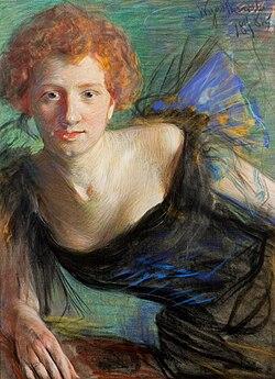 Portret Ireny Solskiej, mal. Leon Wyczółkowski, 1899, Muzeum Narodowe, Kraków
