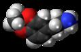Isopropylidenedioxyamphetamine molecule spacefill.png