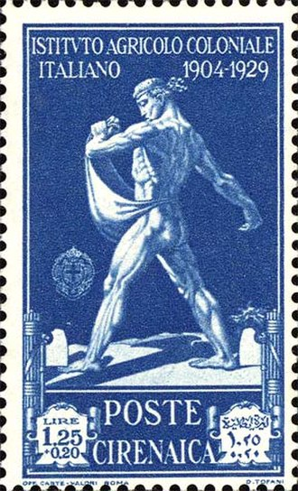 Postage stamps and postal history of Cyrenaica - A 1930 mint stamp of Cyrenaica while it was an Italian colony