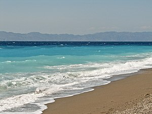 Ixia beach Rhodes Greece 2