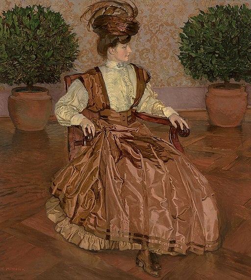 Józef Mehoffer - Portret żony (W laurowej sali) 1909
