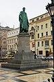 József nádor Statue from left in József nádor Square - rain in November 2019.jpg