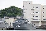 JS Hatsushima(MSC-606) left front view at JMSDF Yokosuka Naval Base April 30, 2018.jpg