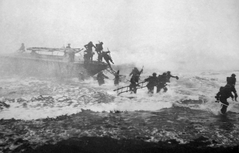Jack Churchill leading training charge with sword