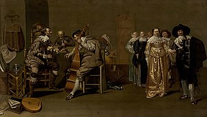 Cotillion - A mid-17th century painting by Jacob Duck, called The Cotillion, is the earliest possible reference to a dance with this name.
