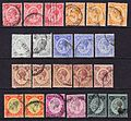 Jamaica George V used stamps.jpg