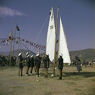 Sea Scout - A demonstration by Netherlands Sea Scouts at the 11th World Scout Jamboree in Greece, 1963.