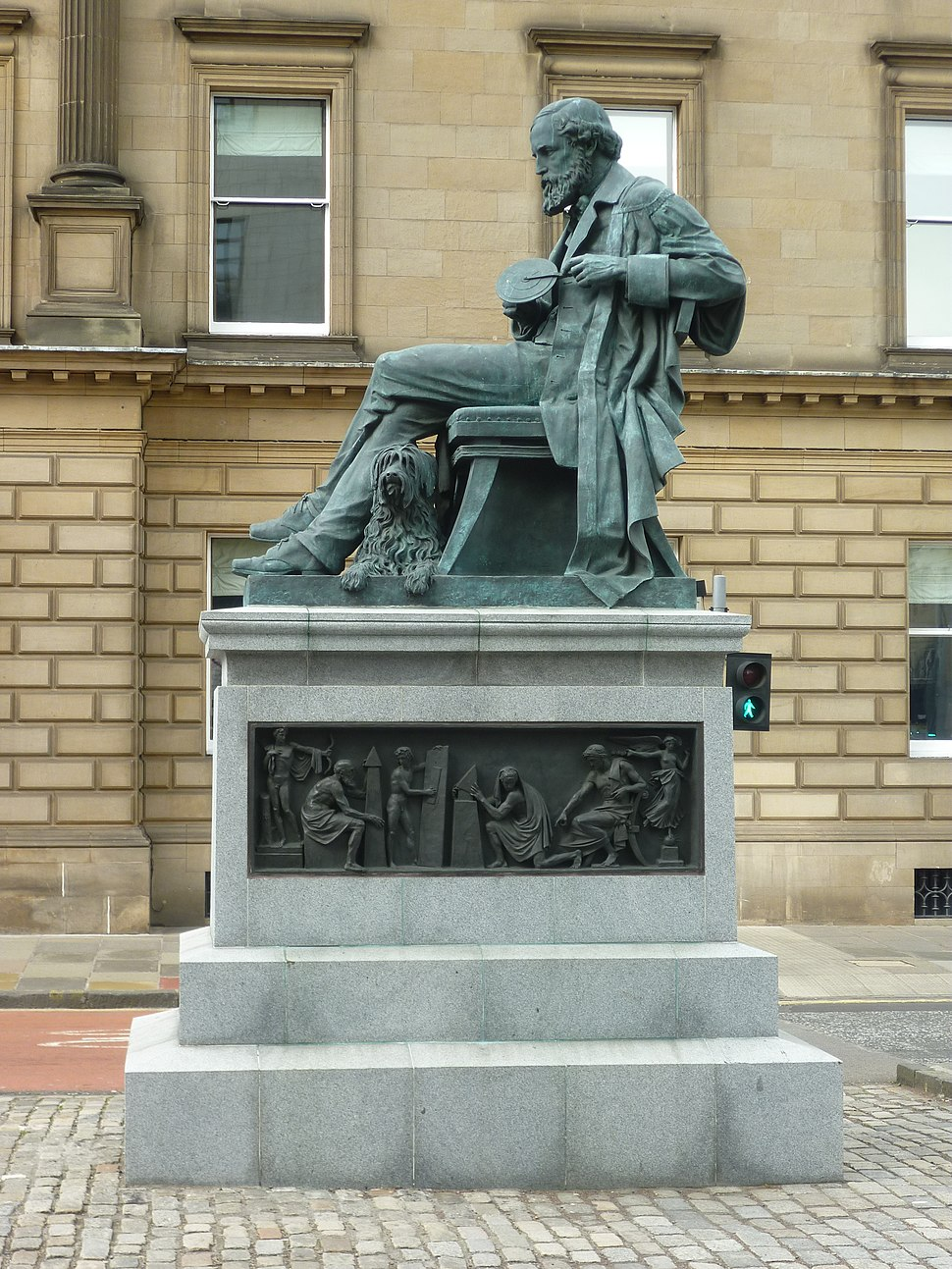 James Clerk Maxwell statue in George Street, Edinburgh