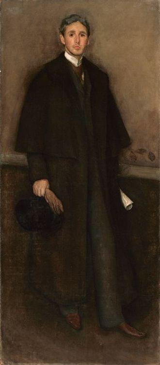 Arthur Jerome Eddy - Arrangement in Flesh Colour and Brown: Portrait of Arthur J. Eddy (1894), James McNeill Whistler
