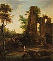 Jan de Momper (Attr.) - Landscape with ruins and wayfarers.jpg