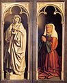 Jan van Eyck - The Ghent Altarpiece - St John the Evangelist and the Donor's Wife - WGA07682.jpg