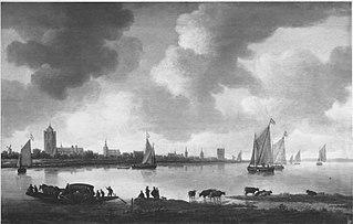 Stadt am Fluss (Ansicht von Zierikzee) (Nachahmer)