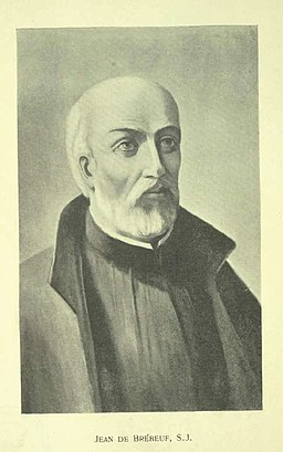 Drawing of Jean de Brébeuf via Wikimedia Commons