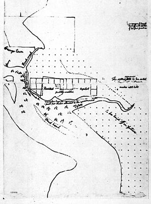 Residence Act - Sketch of Washington, D.C. by Thomas Jefferson (March 1791)