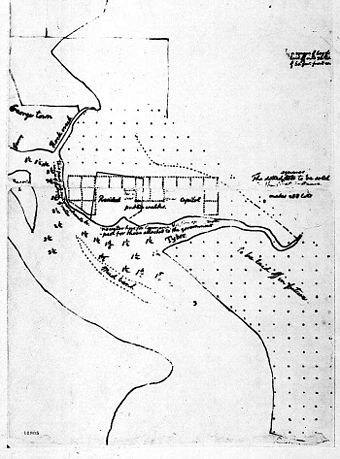 Sketch of Washington, D.C. by Thomas Jefferson (March 1791)