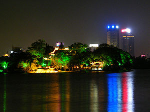 South Lake (Jiaxing) - South Lake at night