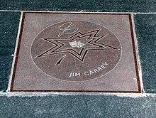 la stella di Jim Carrey nella Canada's Walk of Fame