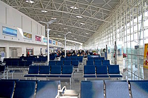 Jinan Yaoqiang International Airport - Inside the terminal building