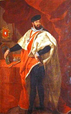 John III of Portugal - King John III portrayed as the patron of the University of Coimbra.