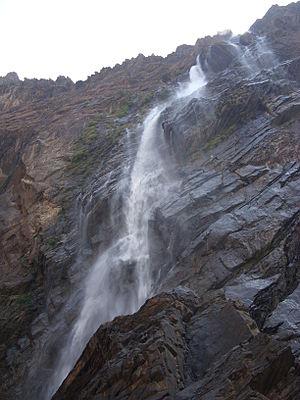 Jog Falls, Karnataka, in dry season.
