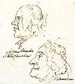 Johann Adolph Hasse et Faustina Bordoni, caricature de Pier Leone Ghezzi, v. 1739.jpg