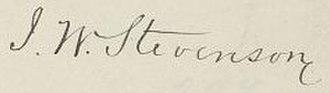 John W. Stevenson - Image: John W. Stevenson sig