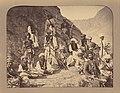John Burke (British, active 1860s - 1870s) - (Peshawur Valley Field Warriors Resting Against a Hillside) - Google Art Project.jpg