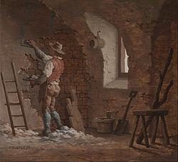 Plaster painting image