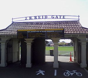John Richard Reid - The John R. Reid Gate at the Basin Reserve, Wellington.