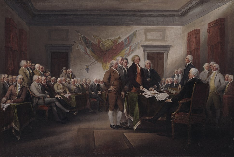 John Trumbull - The Declaration of Independence, July 4, 1776 - 1832.3 - Yale University Art Gallery