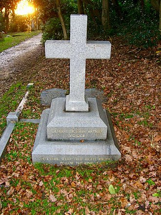 John Watson (Indian Army officer) - The grave of John Watson in the churchyard of St James, Finchampstead.