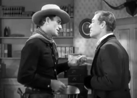 John Wayne and Ward Bond in Tall in the Saddle
