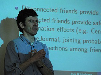 Jon Kleinberg - Image: Jon Kleinberg at Cornell