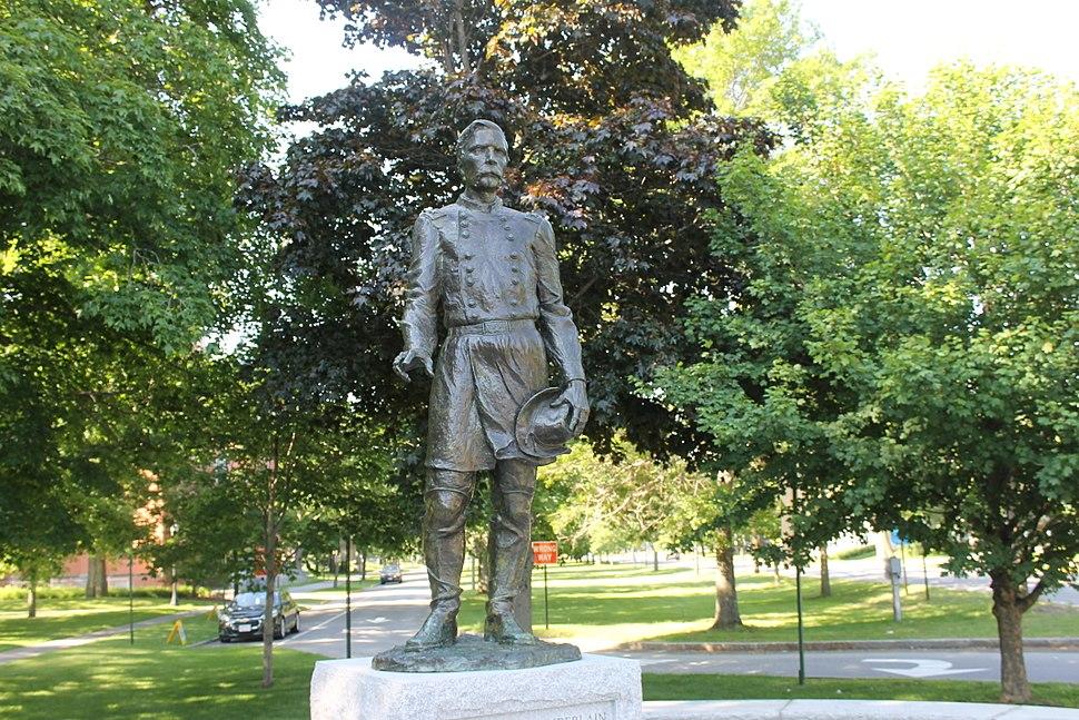 Joshua Chamberlain statue, Brunswick, ME IMG 1941